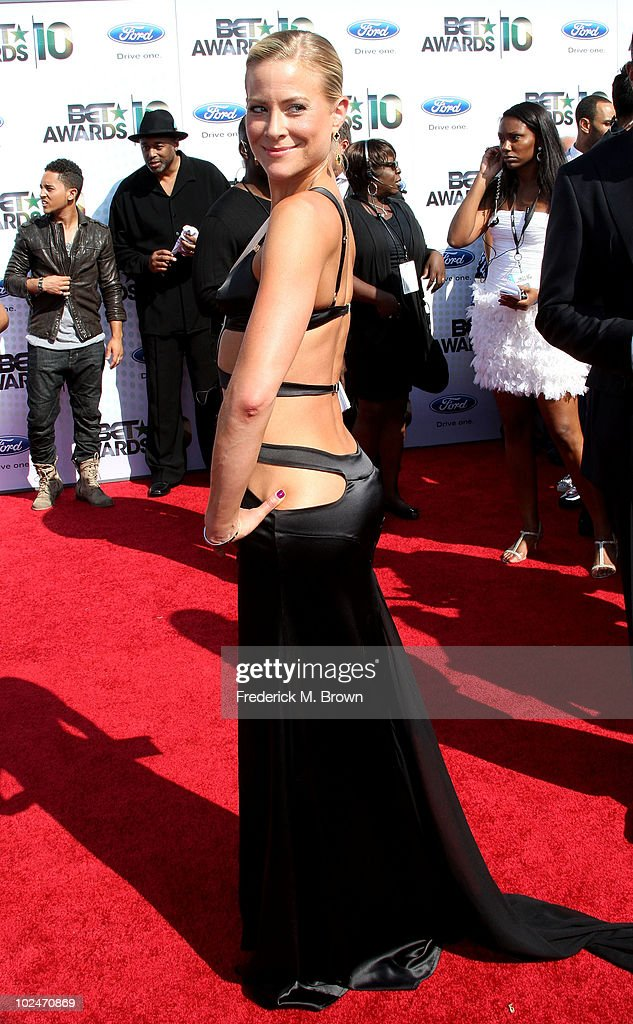 Actress Brittany Daniel arrives at the 2010 BET Awards held at the Shrine Auditorium on June 27, 2010 in Los Angeles, California.