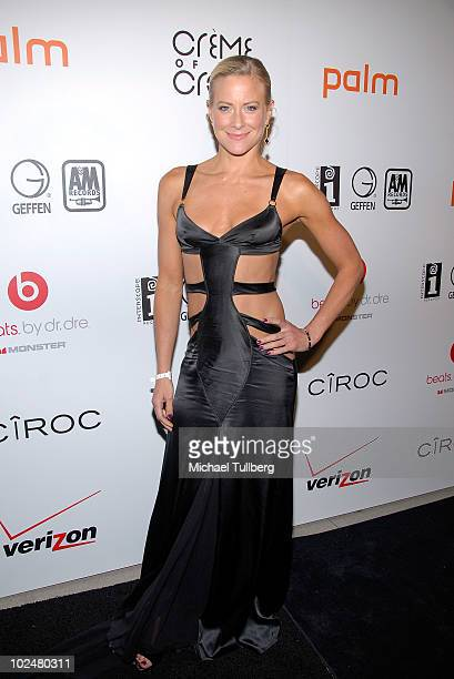 Actress Brittany Daniel arrives at the Interscope Geffen AM Records Fourth Annual Creme Of The Crop postBET Awards Dinner Celebration on June 27 2010...