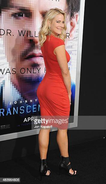 """Actress Brittany Daniel arrives at the Los Angeles premiere """"Transcendence"""" at Regency Village Theatre on April 10, 2014 in Westwood, California."""