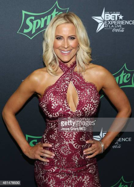 Actress Brittany Daniel poses in the VIP Lounge during the 2014 BET Experience At LA LIVE on June 28 2014 in Los Angeles California