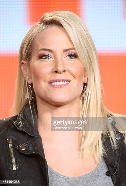 "Actress Brittany Daniel speaks onstage during the ""Joe Dirt 2: Beautiful Loser"" panel as part of the Sony/Crackle 2015 Winter Television Critics..."