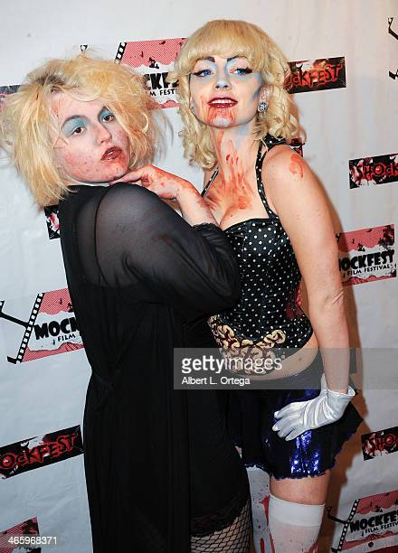Actress Brittany JonBenet Ramsey and guest attend the ShockFest Film Festival Awards held at Raleigh Studios on January 11 2014 in Los Angeles...