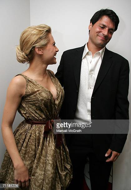 Actress Brittany Murphy and her fiance Joe Macaluso attend the actors fund of America's 10th annual Tony awards dinner at the Skirball Cultural...