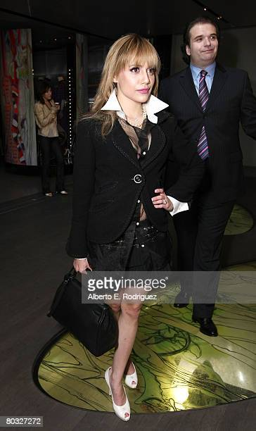 Actress Brittany Murphy and husband director Simon Monjack attend the Los Angeles screening of Trembled Blossoms presented by Prada on March 19 2008...