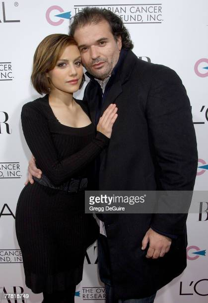 Actress Brittany Murphy and husband Simon Monjack arrive at A Night Of Hope presented by L'Oreal Paris in celebration with Harper's Bazaar to benefit...