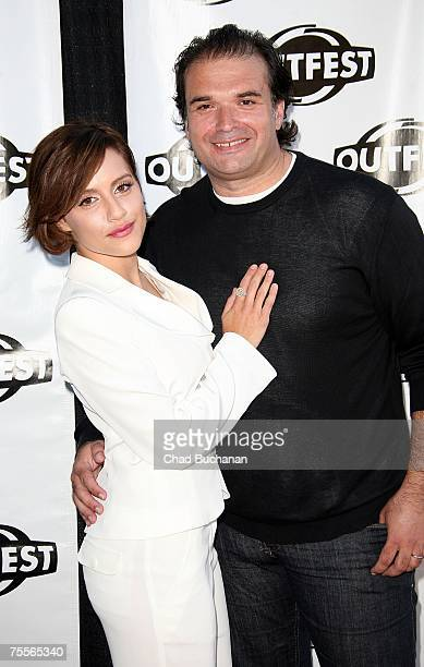 Actress Brittany Murphy and husband Simon Monjack attend an OUTFEST 2007 screening of Love and Other Disasters at the Directors Guild of America on...