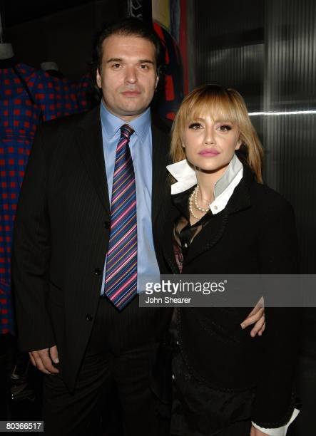 Actress Brittany Murphy and husband Simon Monjack attend the Los Angeles screening of Trembled Blossoms presented by Prada on March 19 2008 in...