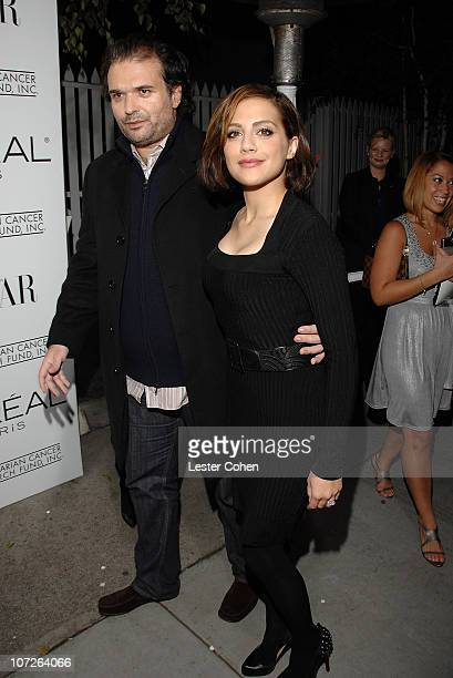Actress Brittany Murphy and husband Simon Monjack attends L'Oreal Paris' A Night of Hope hosted by L'Oreal president Carol J Hamilton Diane Keaton...