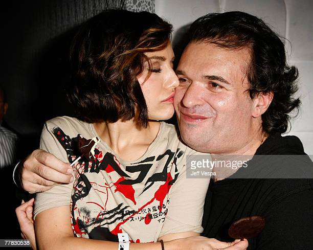 Actress Brittany Murphy and husband writer Simon Monjack attend MOTO 9 Motorola's 9th Anniversary party held at The Lot on November 8 2007 in West...