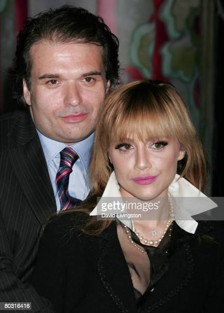 Actress Brittany Murphy and husband writer/producer/director Simon Monjack attend the Prada Los Angeles screening of 'Trembled Blossoms' at Prada...