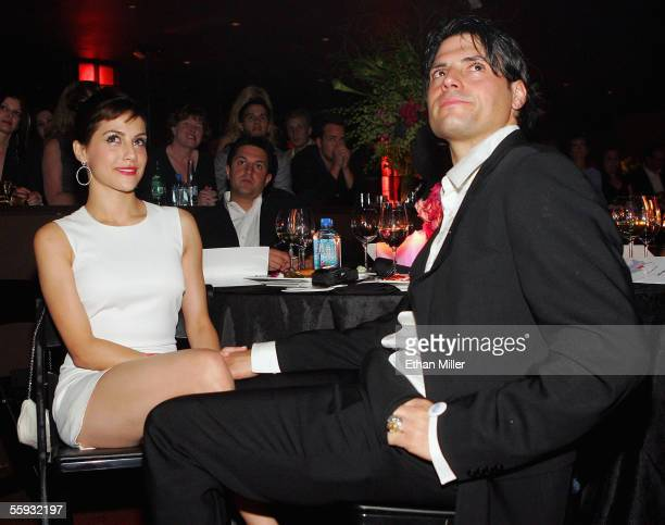 Actress Brittany Murphy and Joe Macaluso attend the launch of the uBid for Hurricane Relief charity auction and benefit at the Empire Ballroom...