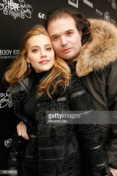 Actress Brittany Murphy and Screenwriter Simon Monjack attend Rock the Vote at the House of Hype Daytime Hospitality Lounge on January 18 2008 in...