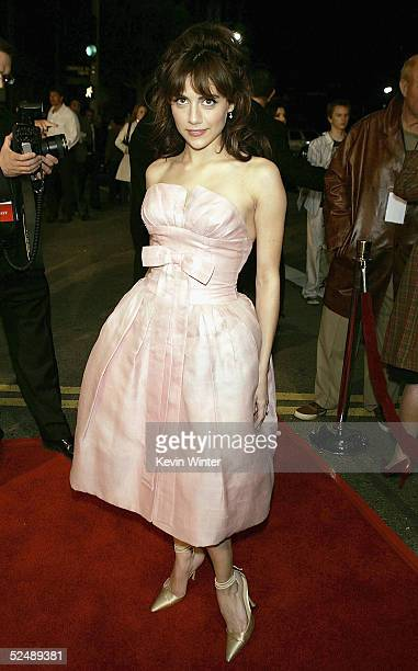 Actress Brittany Murphy arrives at the premiere of Sin City at Mann National Theater on March 28 2005 in Los Angeles California Photo by Kevin...