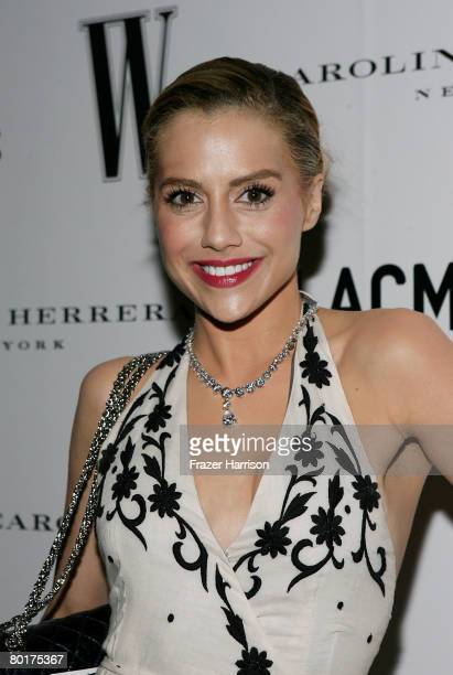 Actress Brittany Murphy arrives to the Inaugural AvantGarde Gala hosted by W Magazine LACMA held at LACMA BCAM on March 8 2008 in Los Angeles...