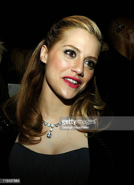 Actress Brittany Murphy attends Monique Lhuillier Fall 2008 during MercedesBenz Fashion Week at the Promenade Bryant Park on February 5 2008 in New...