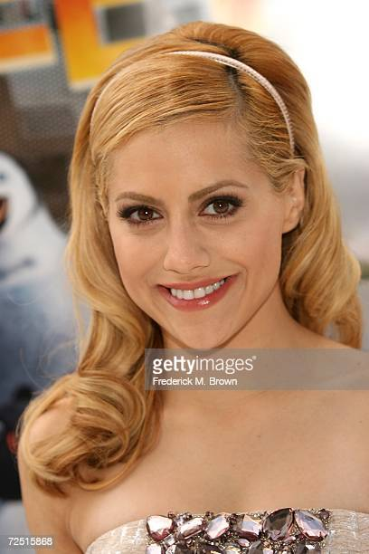 Actress Brittany Murphy attends the film premiere of Happy Feet at Grauman's Chinese Theatre on November 12 2006 in Hollywood California