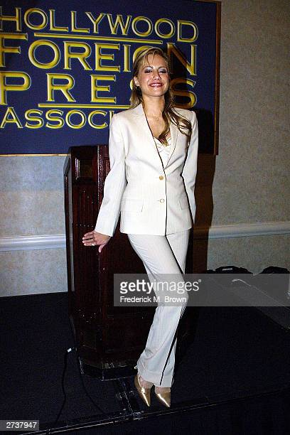 Actress Brittany Murphy attends the Hollywood Foreign Press Association press conference announcing Michael Douglas will be honored with the 2004...