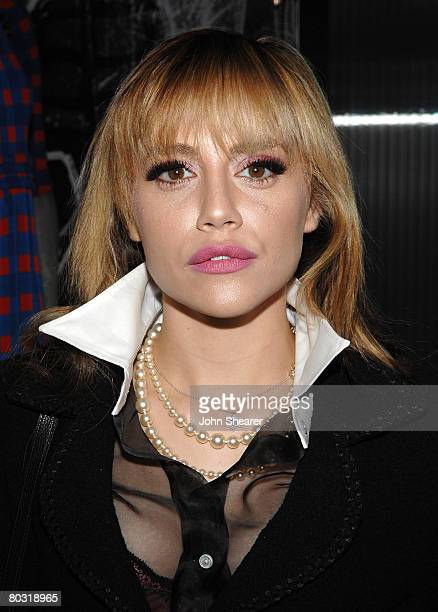 Actress Brittany Murphy attends the Los Angeles screening of Trembled Blossoms presented by Prada on March 19 2008 in Beverly Hills California