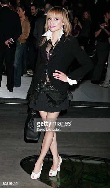 Actress Brittany Murphy attends the Prada Los Angeles screening of 'Trembled Blossoms' at Prada Beverly Hills Epicenter on March 19 2008 in Beverly...
