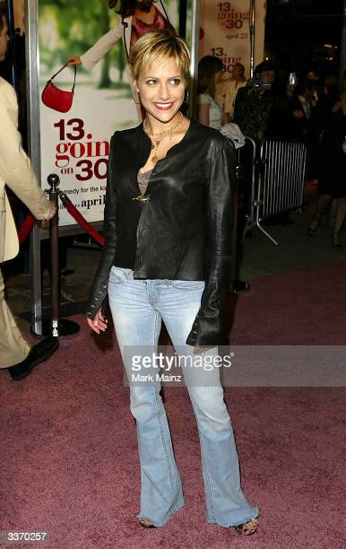 "Actress Brittany Murphy attends the premiere of the film ""13 Going on 30"" at the Mann Village Theatre on April 14, 2004 in Los Angeles, California."