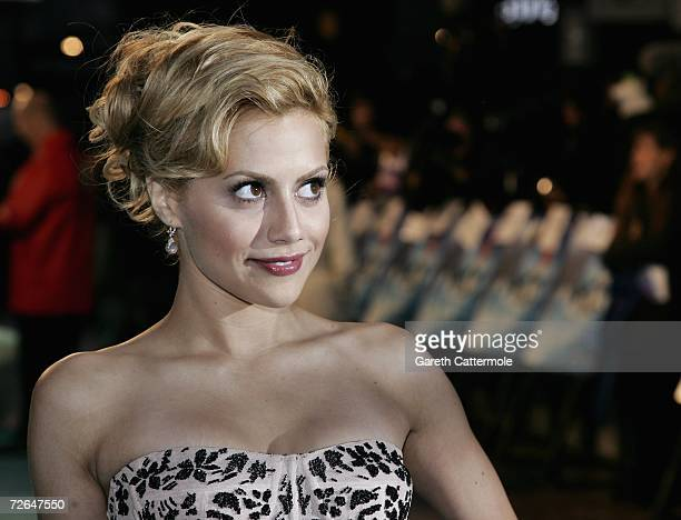 Actress Brittany Murphy attends the UK premiere of the movie Happy Feet held at the Empire Leicester Square on November 26 2006 in London England