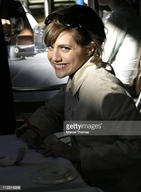 Actress Brittany Murphy is seen at DaSilvano restaurant in SOHO on April 14 2005 in New York City
