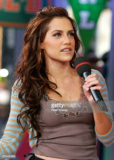 Actress Brittany Murphy makes an appearance on MTV's Total Request Live on March 31 2005 in New York City