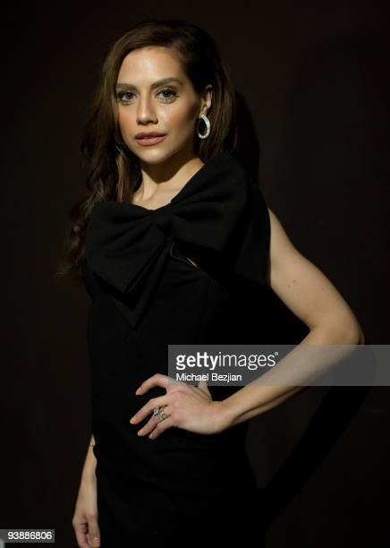 Actress Brittany Murphy poses for portraits at Tt Collection PopUp Party on December 3 2009 in Los Angeles California
