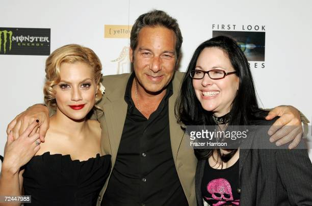 """Actress Brittany Murphy, Producer Henry Winterstern and Writer/Director Karen Moncrieff arrive at the Premiere Lounge after party for """"The Dead Girl""""..."""