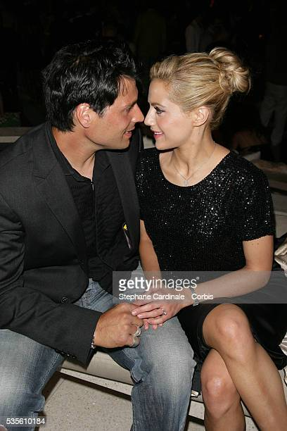 Actress Brittany Murphy with her boyfriend Joe Macaluso at the private party for the new campaign of Dom Pérignon Rosé Vintage 1996 by Karl Lagerfeld...