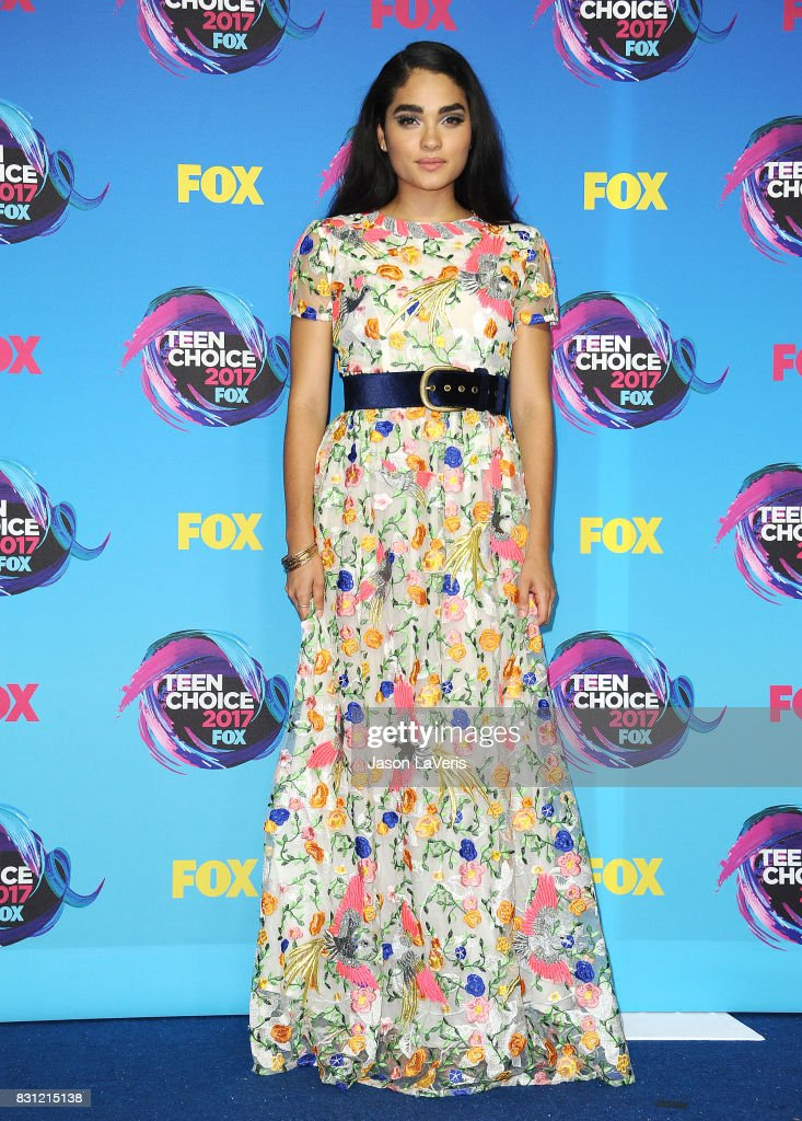 Actress Brittany O'Grady poses in the press room at the 2017 Teen Choice Awards at Galen Center on August 13, 2017 in Los Angeles, California.