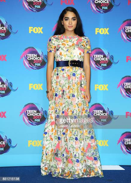Actress Brittany O'Grady poses in the press room at the 2017 Teen Choice Awards at Galen Center on August 13 2017 in Los Angeles California