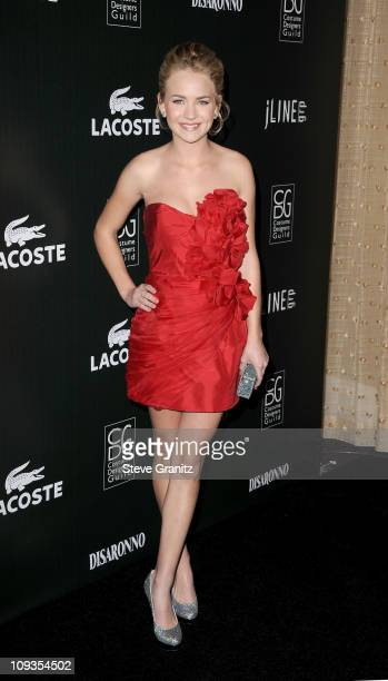 Actress Brittany Robertson arrives at the 13th Annual Costume Designers Guild Awards with presenting sponsor Lacoste held at The Beverly Hilton hotel...