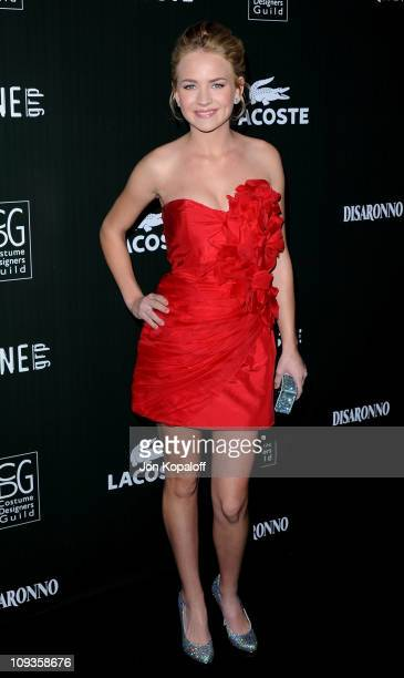 Actress Brittany Robertson arrives at the 13th Annual Costume Designers Guild Awards at The Beverly Hilton hotel on February 22 2011 in Beverly Hills...