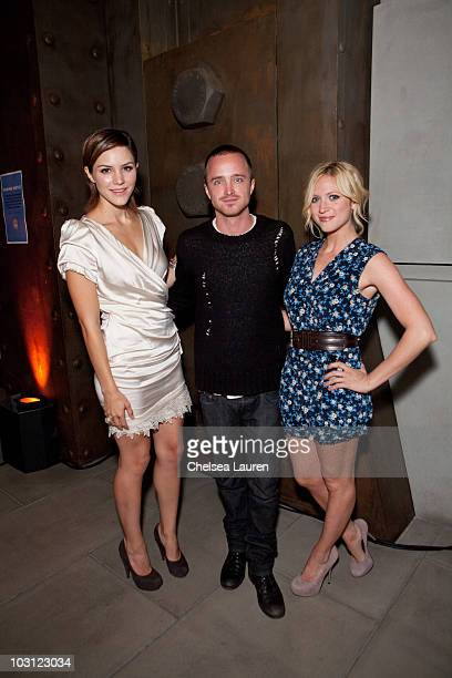 Actress Brittany Snow actor Aaron Paul and singer Katharine McPhee attend An Evening with Alexandra Cousteau at Revo/Oakley Headquarters and Theater...