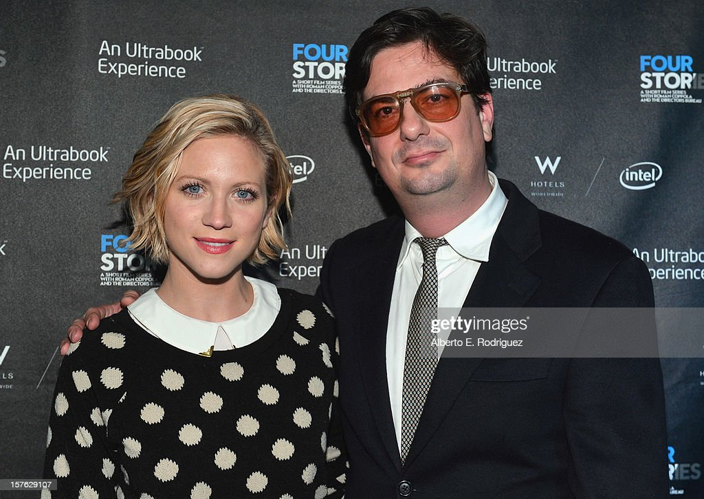 Actress Brittany Snow and director Roman Coppola arrive to the after party for the premiere of 'Four Stories' at The W Hotel on December 4, 2012 in Westwood, California.