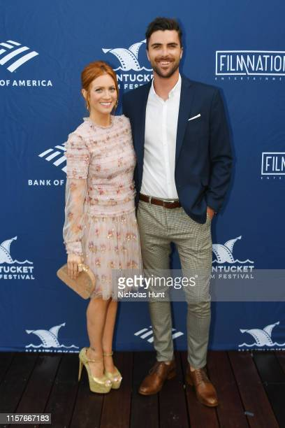 Actress Brittany Snow and Tyler Stanaland attend the Screenwriters Tribute at Sconset Casino during the 2019 Nantucket Film Festival - Day Four on...