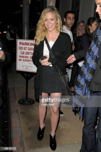 Actress Brittany Snow arrives at Foxtail Lounge on May 29 2008 in West Hollywood California