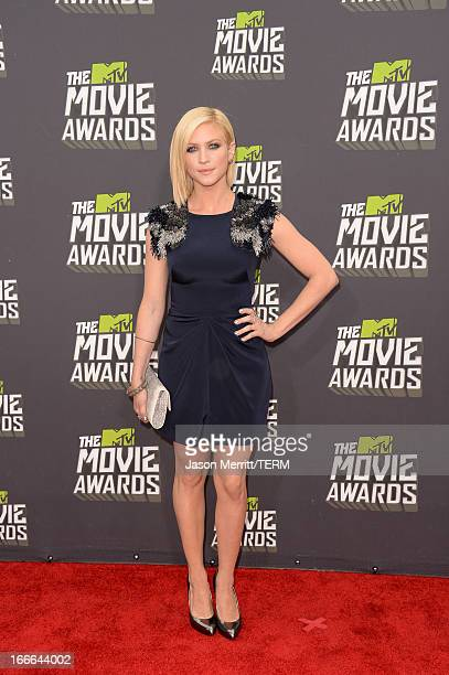 Actress Brittany Snow arrives at the 2013 MTV Movie Awards at Sony Pictures Studios on April 14 2013 in Culver City California