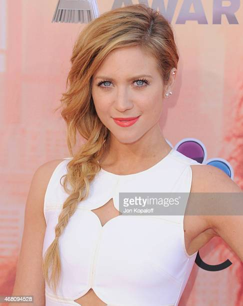 Actress Brittany Snow arrives at the 2015 iHeartRadio Music Awards at The Shrine Auditorium on March 29 2015 in Los Angeles California