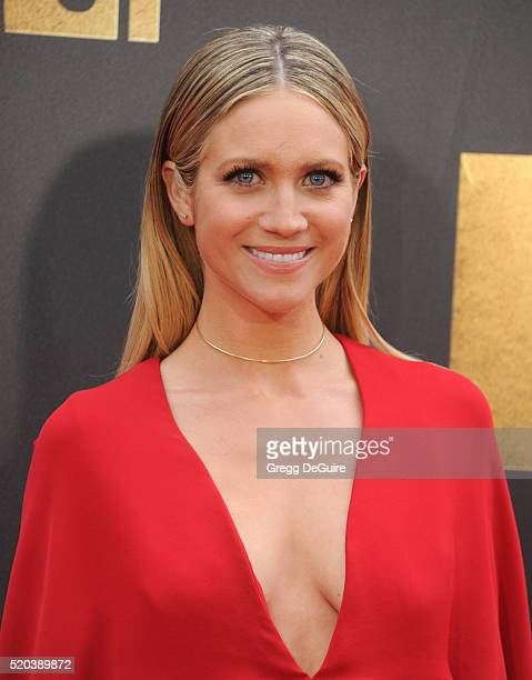Actress Brittany Snow arrives at the 2016 MTV Movie Awards at Warner Bros. Studios on April 9, 2016 in Burbank, California.