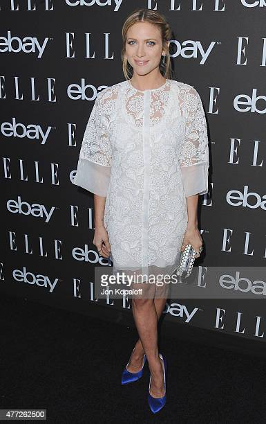 Actress Brittany Snow arrives at the 6th Annual ELLE Women In Music Celebration Presented by eBay at Boulevard3 on May 20, 2015 in Hollywood,...