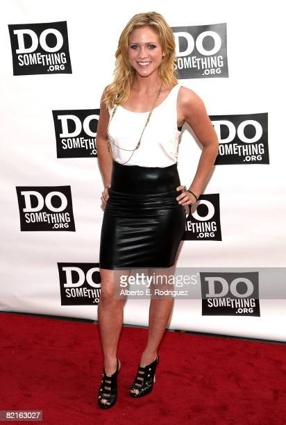Actress Brittany Snow arrives at the Do Something Awards and official pre-party for the 2008 Teen Choice Awards held at Level 3 on August 2, 2008 in...