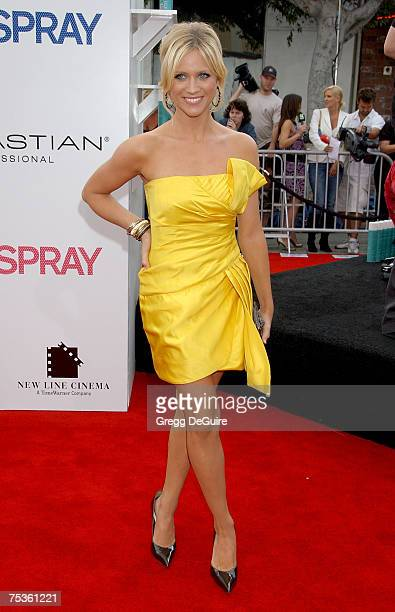"""Actress Brittany Snow arrives at the """"Hairspray"""" premiere at the Mann Village Theatre on July 10, 2007 in Westwood, California."""