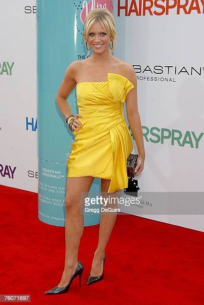 Actress Brittany Snow arrives at the Hairspray premiere at the Mann Village Theatre on July 10 2007 in Westwood California