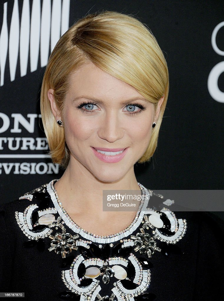Actress Brittany Snow arrives at the Lifetime movie premiere of 'Call Me Crazy: A Five Film' at Pacific Design Center on April 16, 2013 in West Hollywood, California.