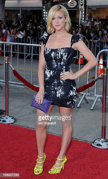 Actress Brittany Snow arrives at the Los Angeles Premiere Charlie St Cloud at Regency Village Theatre on July 20 2010 in Westwood California