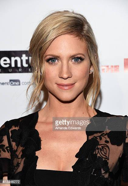 Actress Brittany Snow arrives at the premiere of Momentum Pictures' 'The Late Bloomer' at iPic Theaters on October 3 2016 in Los Angeles California