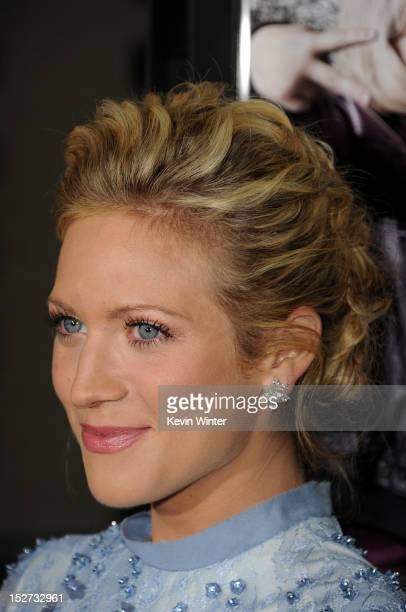 Actress Brittany Snow arrives at the premiere of Universal Pictures And Gold Circle Films' Pitch Perfect at ArcLight Cinemas on September 24 2012 in...