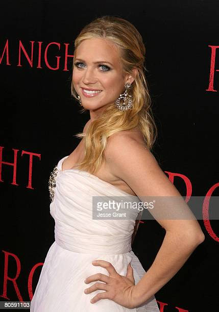Actress Brittany Snow arrives at the World Premiere of Screen Gems' 'Prom Night' at the Cinerama Dome on April 9 2008 in Los Angeles California